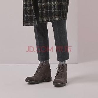 大牌抢购:clarks其乐男鞋19秋新款英伦复古短靴马丁靴皮靴Blackford Cap 灰色261272377 42