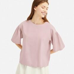 天貓?UNIQLO 優衣庫 420154 女士絲光棉打褶T恤