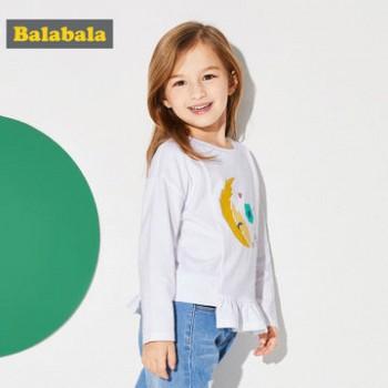 巴拉巴拉童装女童长袖T恤