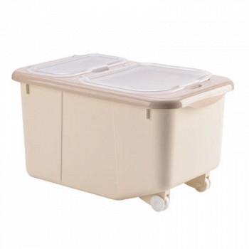 百露 双盖储米桶 10kg