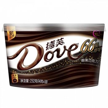 Dove 德芙 66%醇黑巧克力 252g