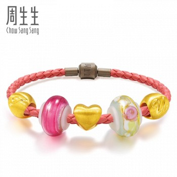 Chow Sang Sang 周生生 Charme Murano Glass 86030b 串珠手链