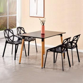 TIMI 天米 现代简约餐桌椅 一桌四椅 1.2米